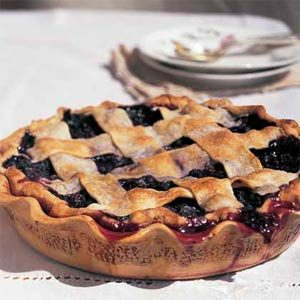 blueberry pie made from iqf wild blueberries