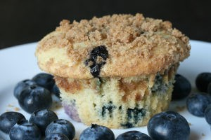 muffin baked with iqf blueberries